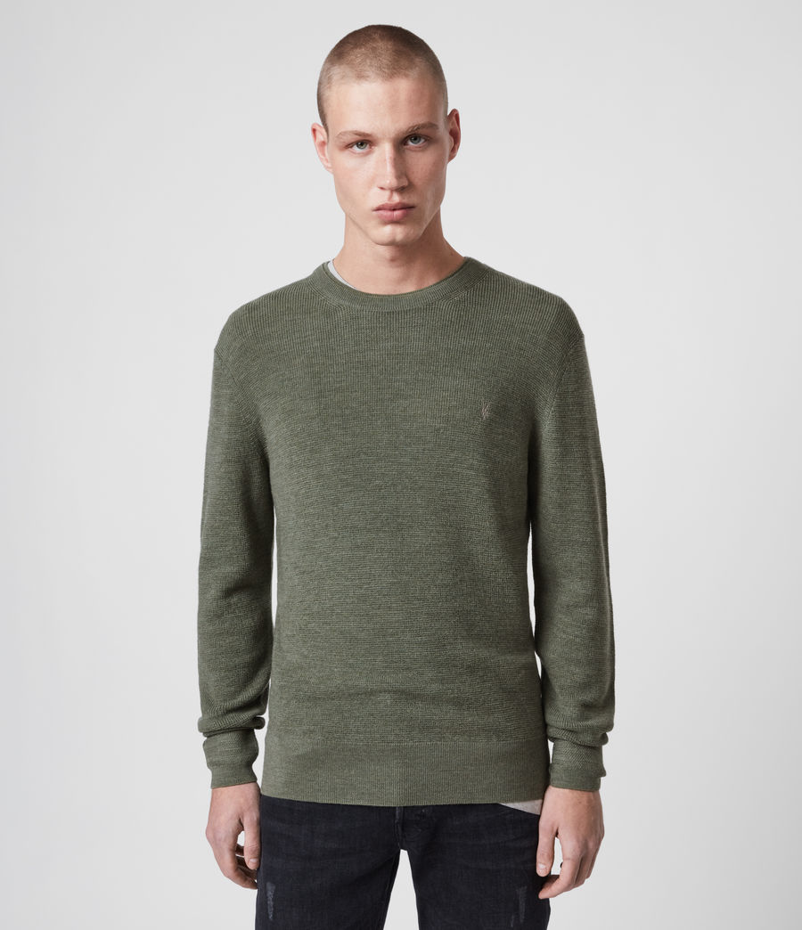 Mens Ivar Merino Crew Sweater (grey_marl) - Image 1