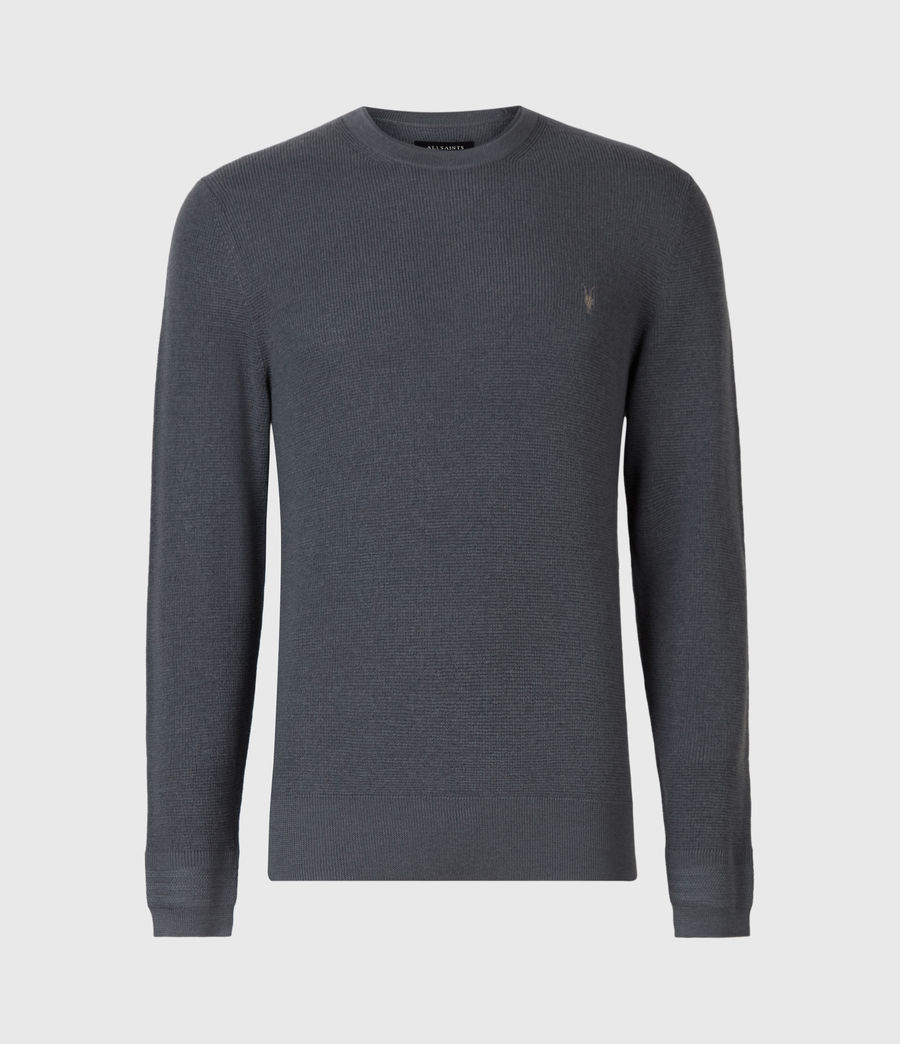 Mens Ivar Merino Crew Sweater (shadow_blue) - Image 2