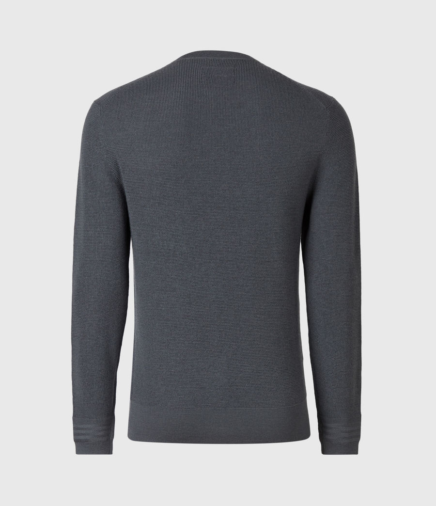 Mens Ivar Merino Crew Sweater (shadow_blue) - Image 3