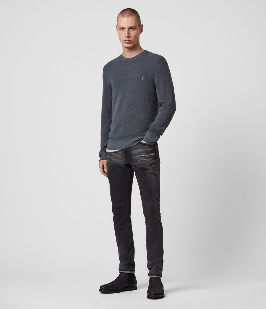 Mens Ivar Merino Crew Sweater (shadow_blue) - Image 4