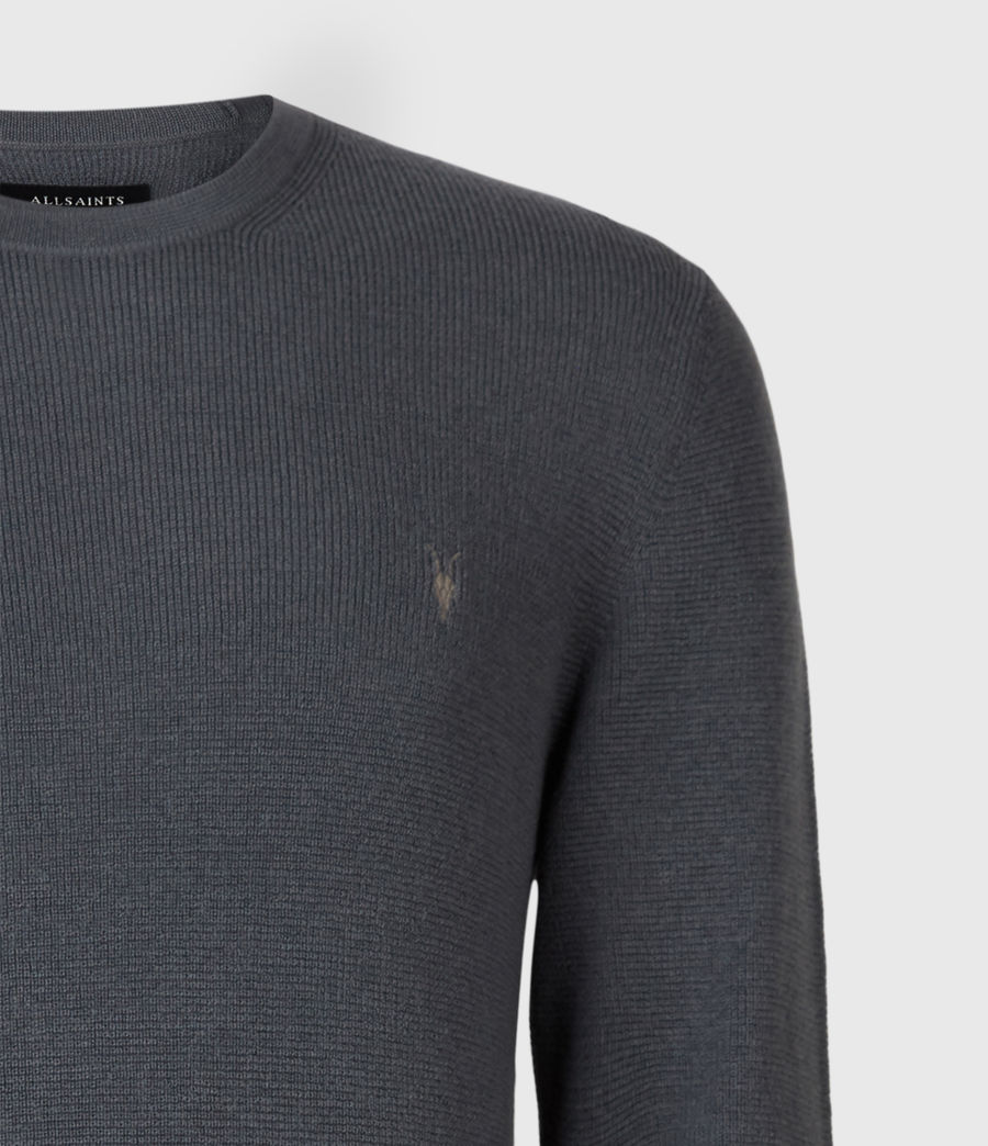 Mens Ivar Merino Crew Sweater (shadow_blue) - Image 5