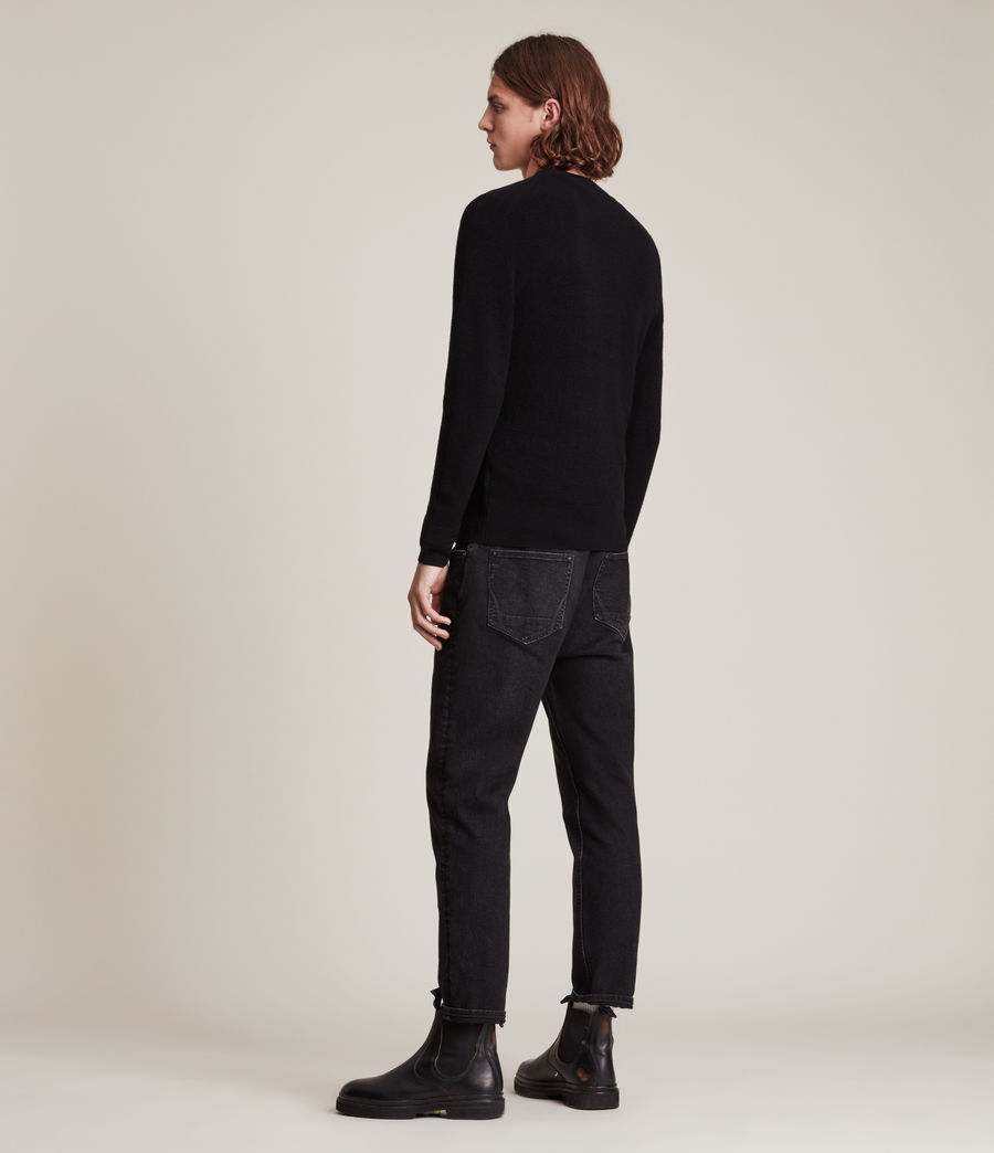Men's Ivar Merino Crew Jumper (black) - Image 4