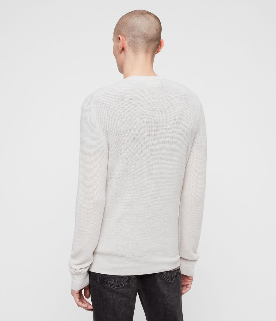 Mens Ivar Merino Crew Sweater (ecru_grey_marl) - Image 4