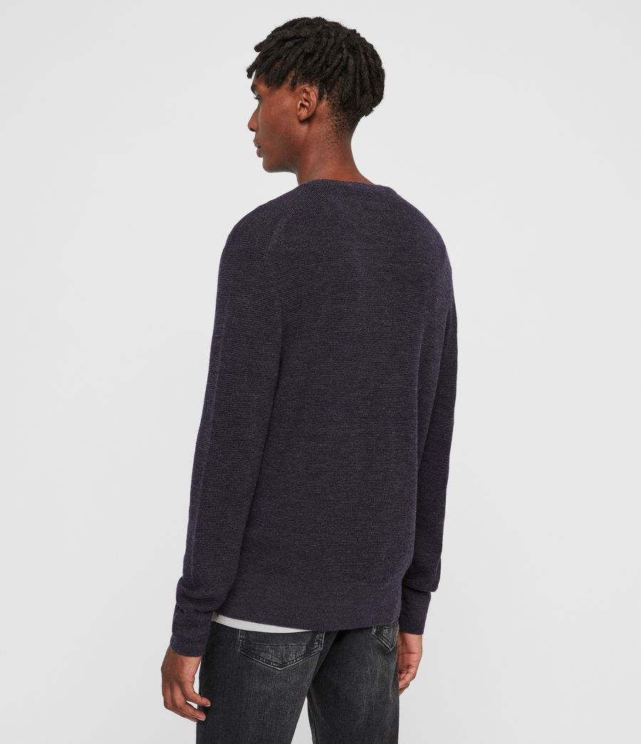 Mens Ivar Merino Crew Sweater (iron_blue_marl) - Image 5