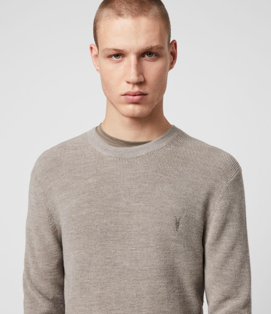 Hombres Jersey de Lana Merina Ivar (grey_marl) - Image 2