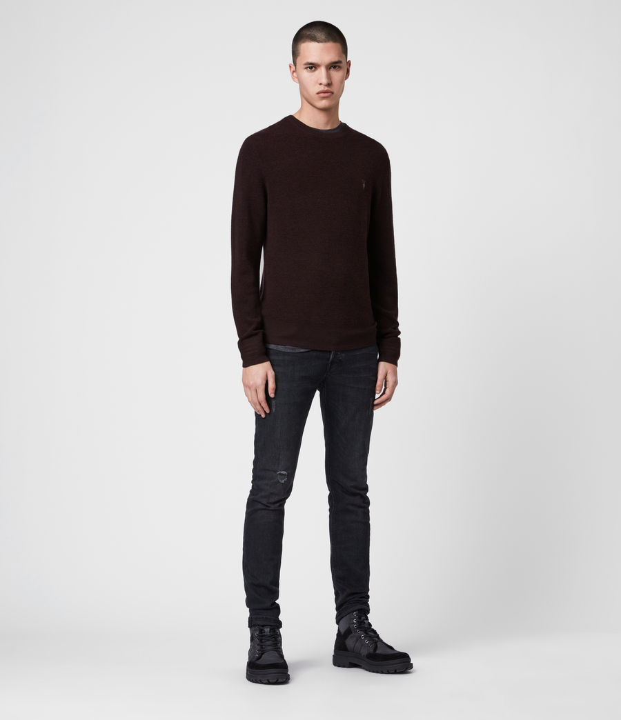 Men's Ivar Merino Crew Jumper (bark_green_marl) - Image 3