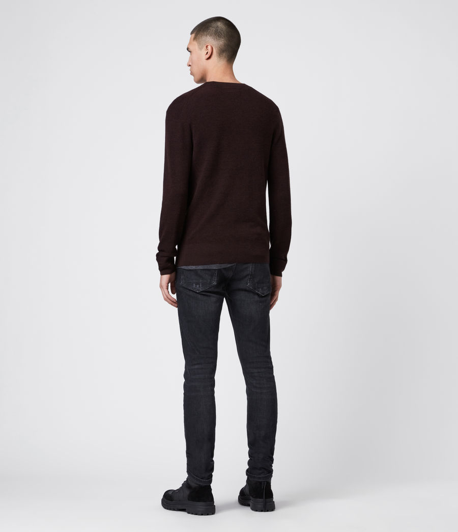 Mens Ivar Merino Crew Sweater (grey_marl) - Image 5