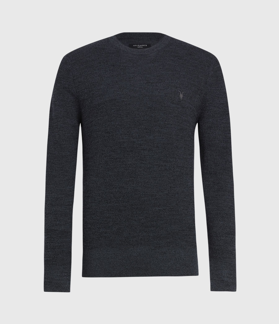 Men's Ivar Merino Crew Jumper (bark_green_marl) - Image 2