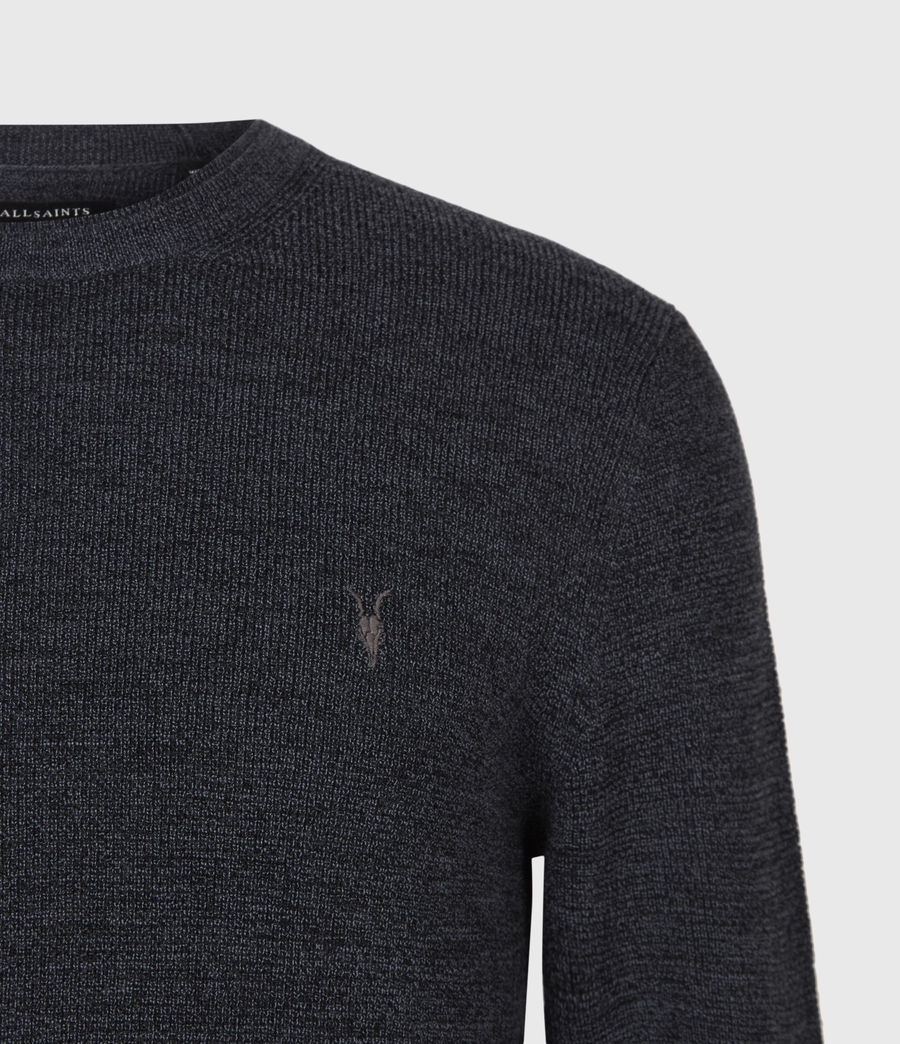 Men's Ivar Merino Crew Jumper (bark_green_marl) - Image 4