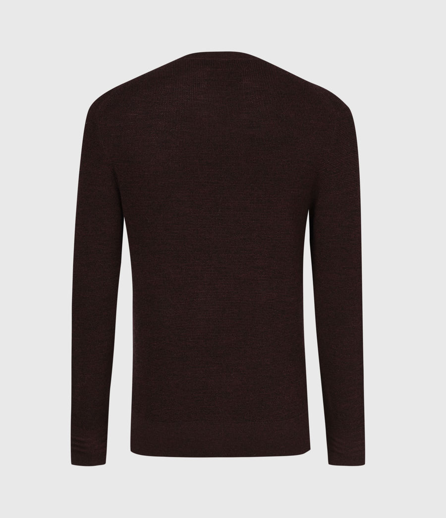 Mens Ivar Merino Crew Sweater (grey_marl) - Image 3