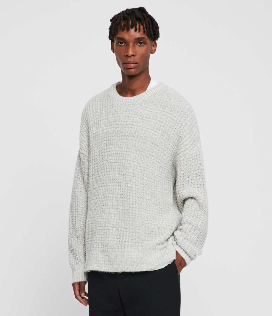 Mens Lothian Crew Sweater (grey_mouline) - Image 1