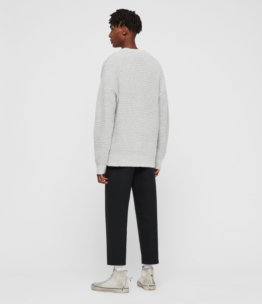 Men's Lothian Crew Jumper (grey_mouline) - Image 5