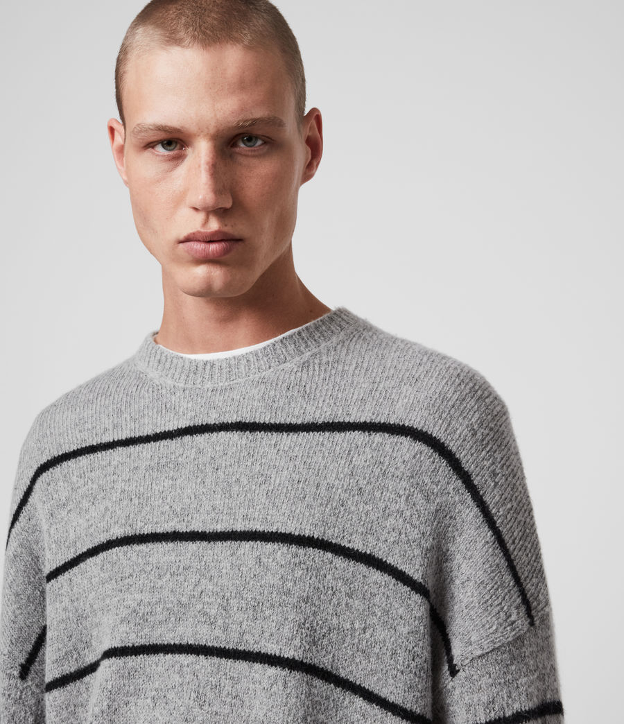 Men's Flander Crew Jumper (grey_marl_black) - Image 2