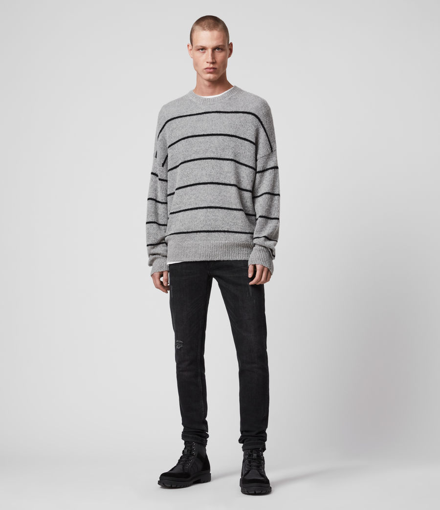 Men's Flander Crew Jumper (grey_marl_black) - Image 3