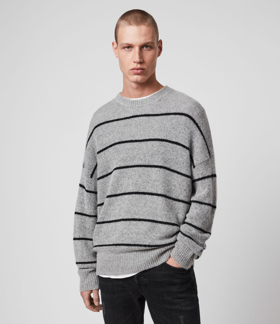 Men's Flander Crew Jumper (grey_marl_black) - Image 4