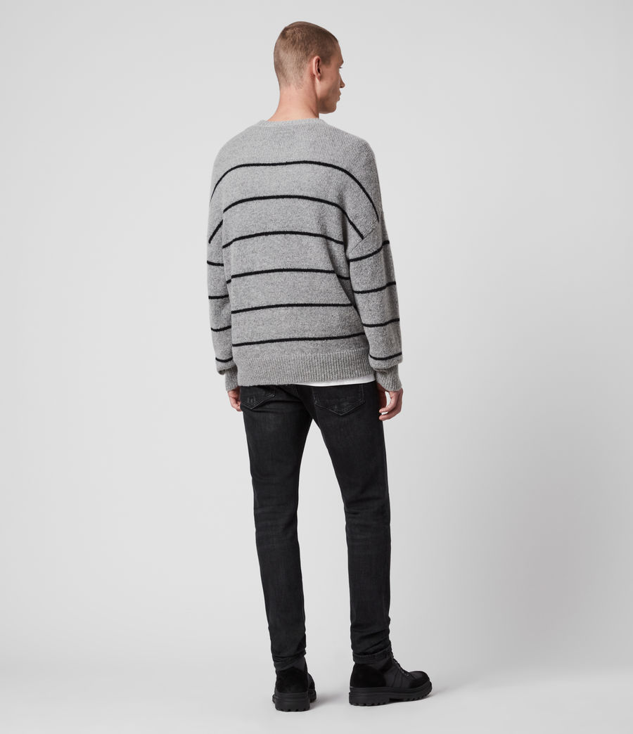 Men's Flander Crew Jumper (grey_marl_black) - Image 5