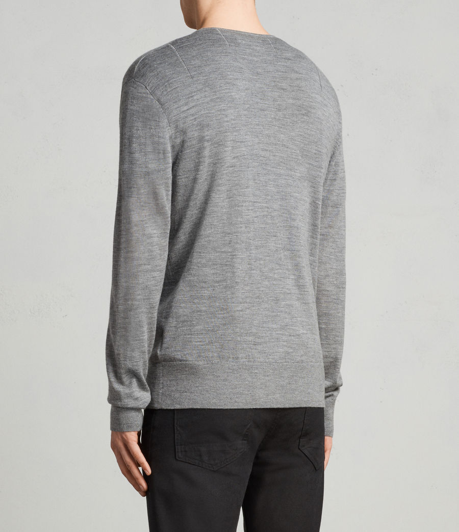 Uomo Cardigan Mode Merino Zip (grey_marl) - Image 4
