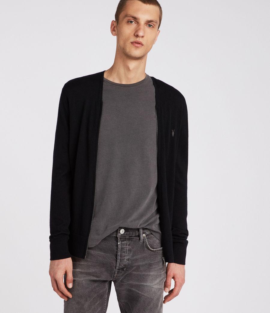 Men's Mode Merino Zip Cardigan (black) - Image 1