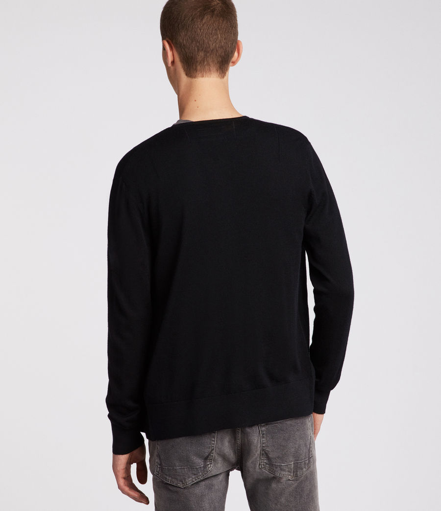 Mens Mode Merino Zip Cardigan (black) - Image 4