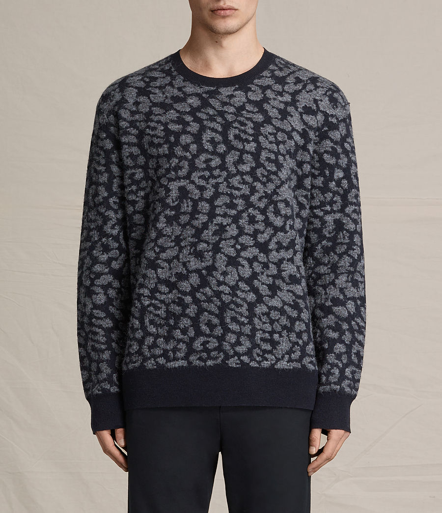 Mens Dima Crew Sweater (ink_navy) - Image 1