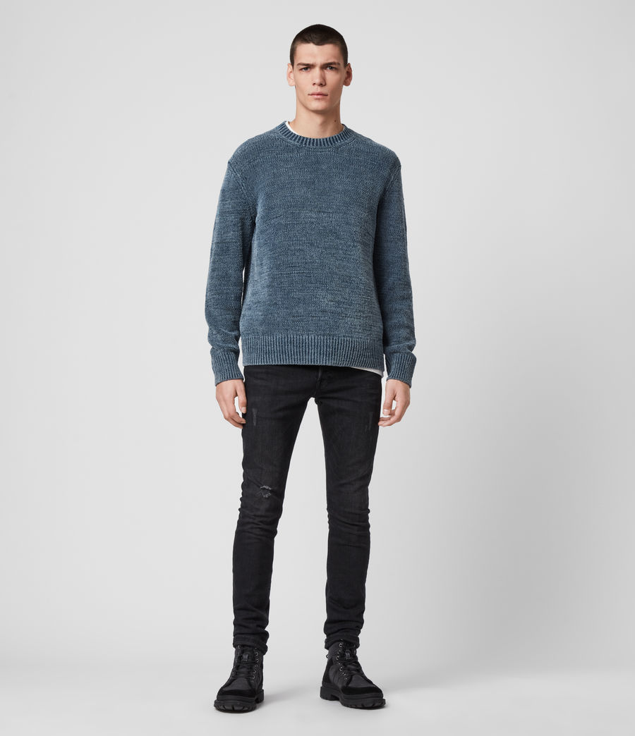 Mens Isumi Crew Sweater (indigo_blue) - Image 3