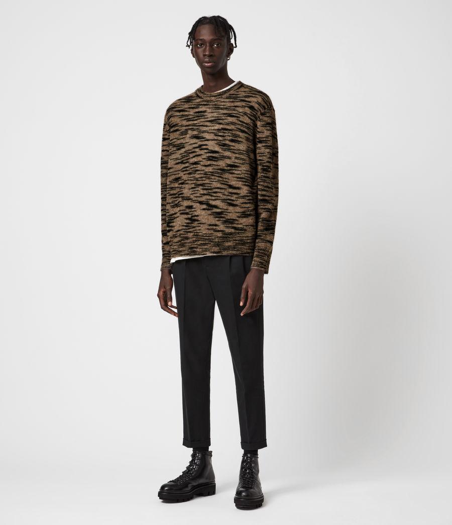 Mens Dali Crew Sweater (taupe_black_marl) - Image 2