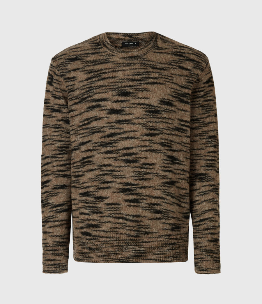 Mens Dali Crew Sweater (taupe_black_marl) - Image 3