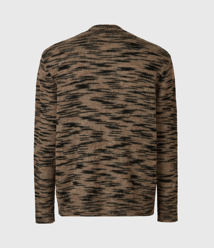 Mens Dali Crew Sweater (taupe_black_marl) - Image 1