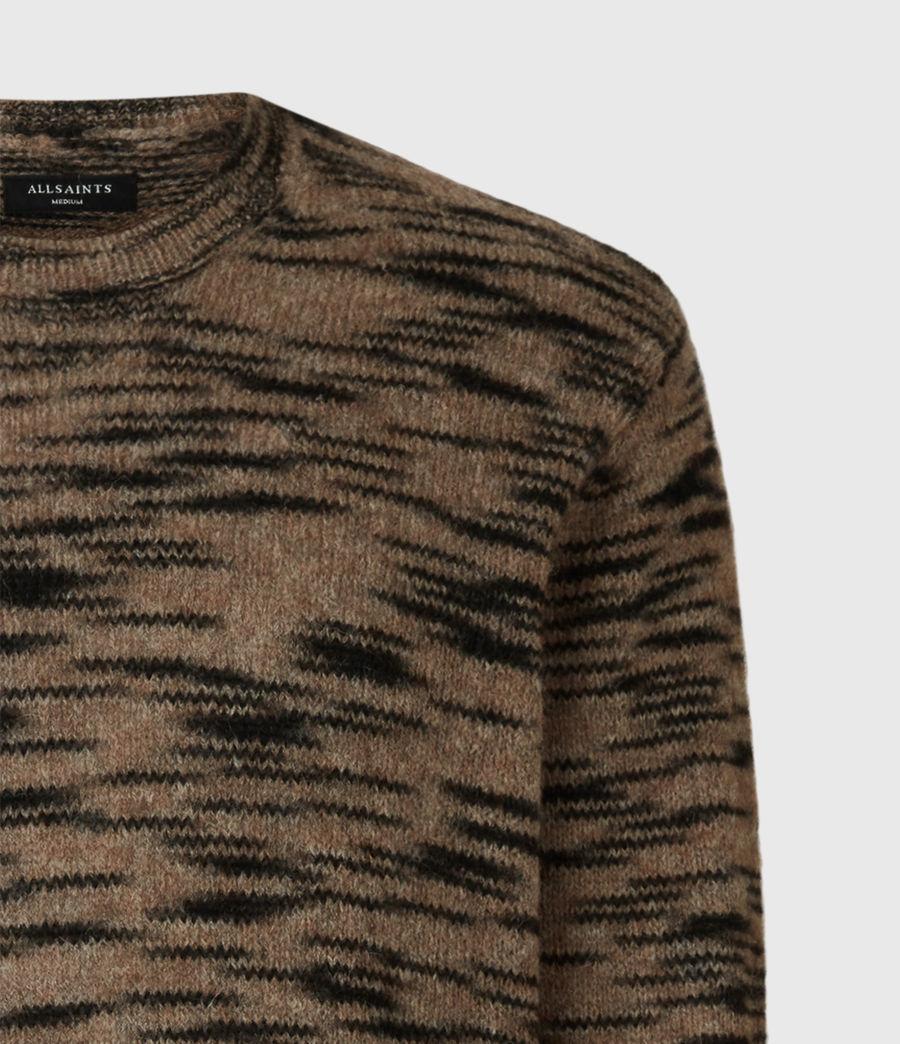 Mens Dali Crew Sweater (taupe_black_marl) - Image 5