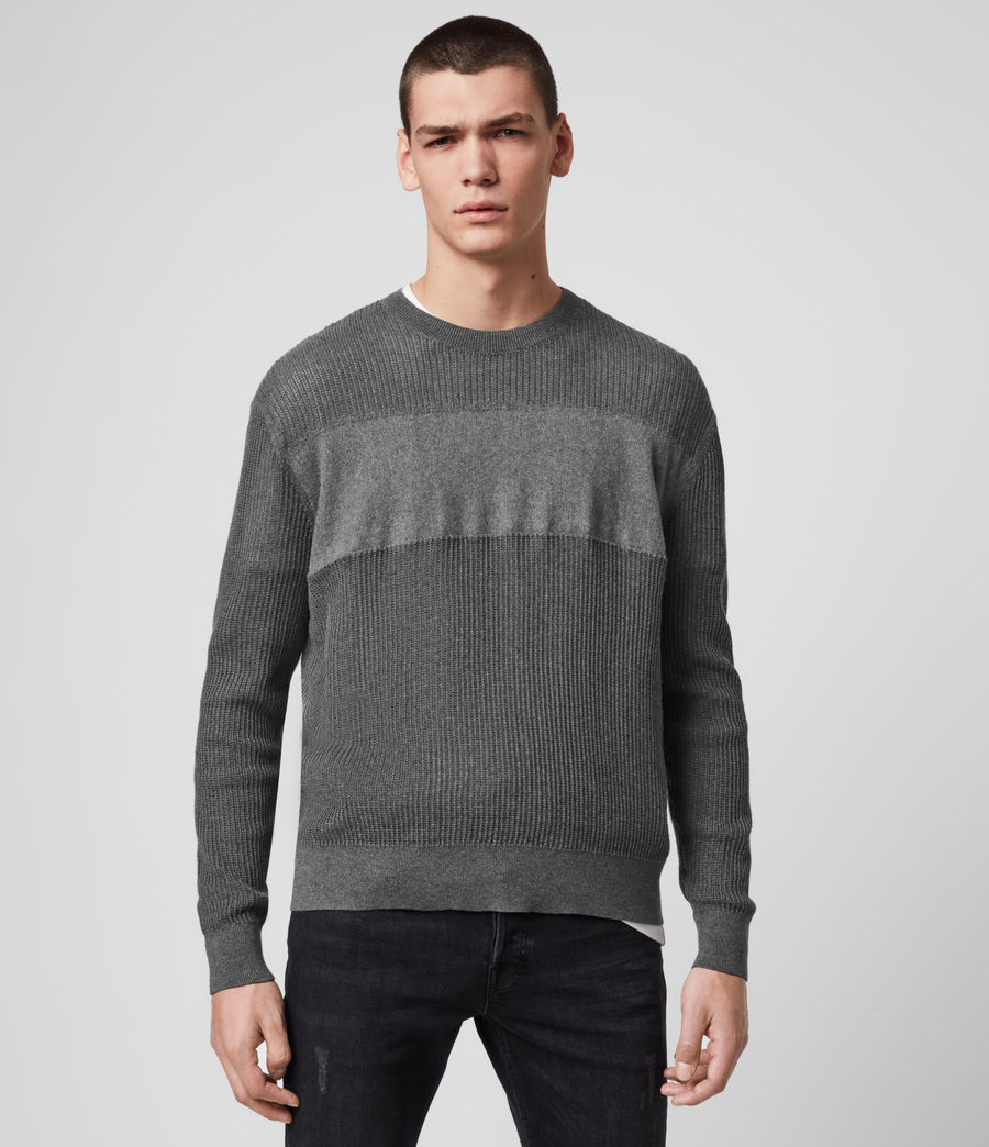 Hombre Stad Crew Sweater (charcoal_marl) - Image 1