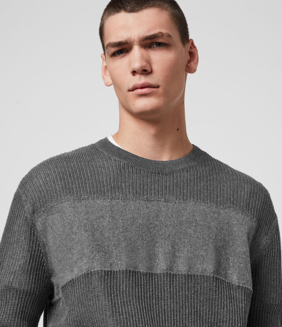 Hombre Stad Crew Sweater (charcoal_marl) - Image 2