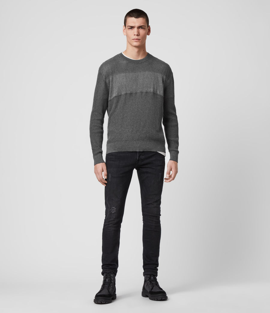 Hombre Stad Crew Sweater (charcoal_marl) - Image 3