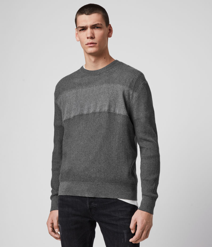 Hombre Stad Crew Sweater (charcoal_marl) - Image 4
