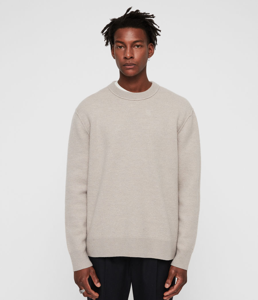 Men's Maine Crew Jumper (oat_marl) - Image 1