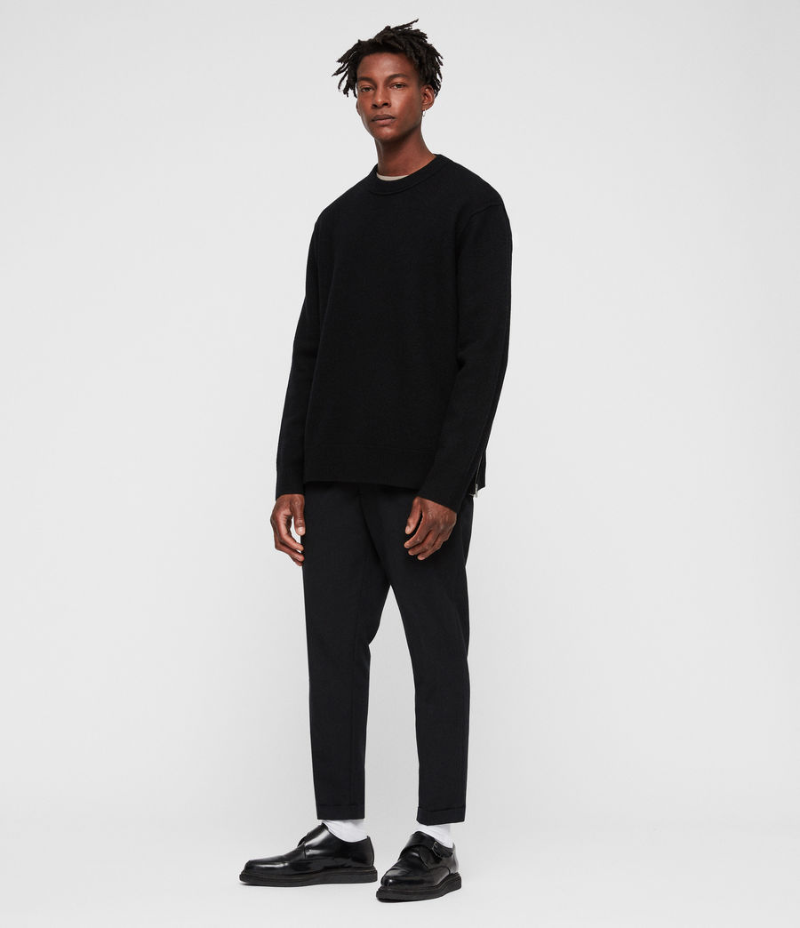 Mens Maine Crew Sweater (black) - Image 1