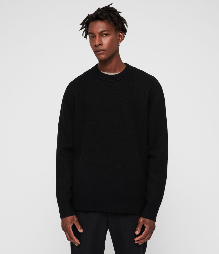 Mens Maine Crew Sweater (black) - Image 3