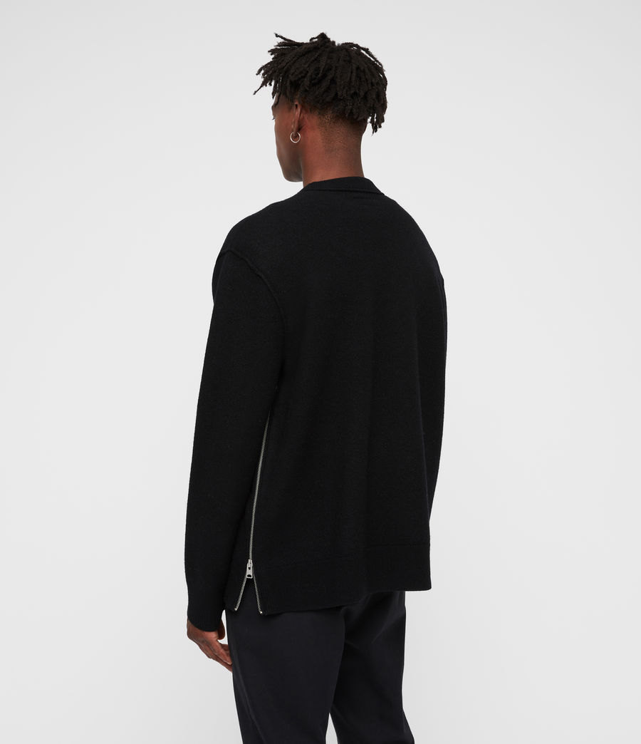Mens Maine Crew Sweater (black) - Image 4