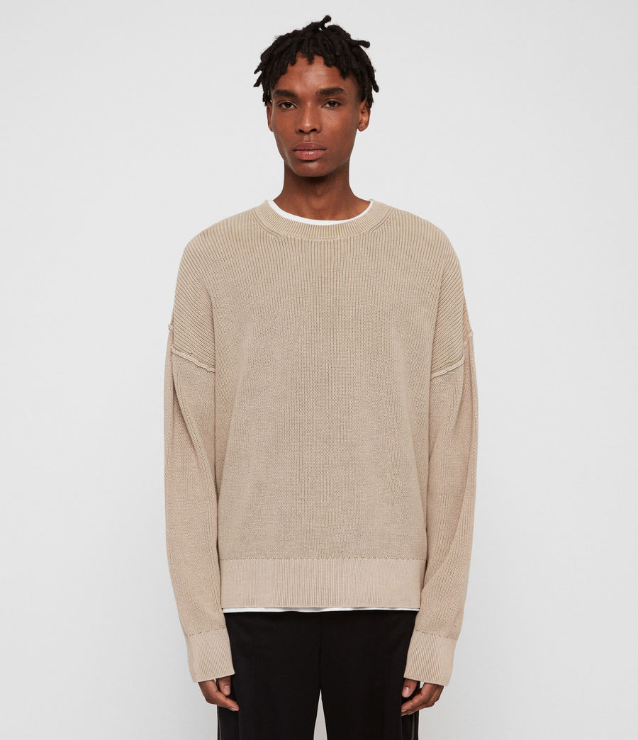 Men's Bleach Crew Jumper (sutro_grey) - Image 1