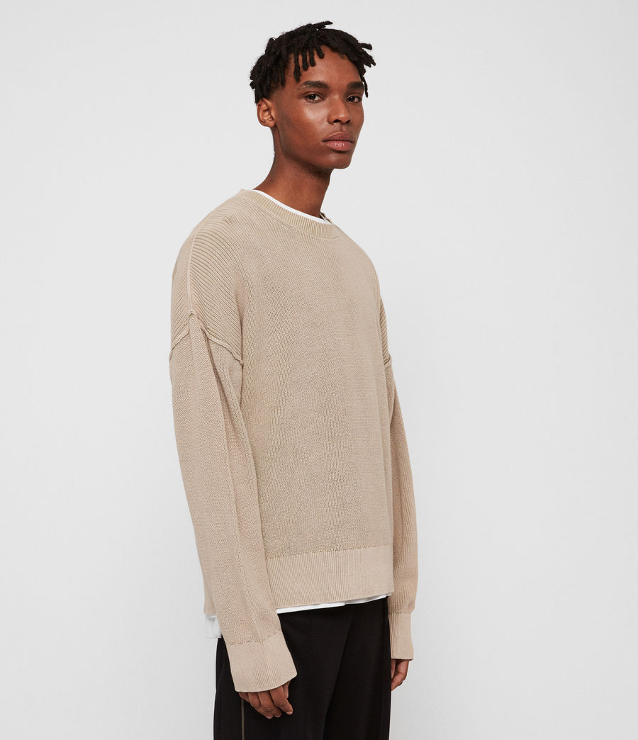 Men's Bleach Crew Jumper (sutro_grey) - Image 3
