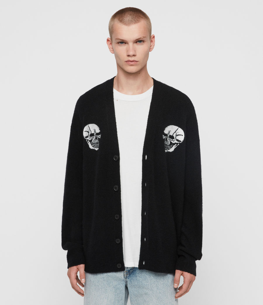 Men's Skullz Cardigan (black) - Image 1