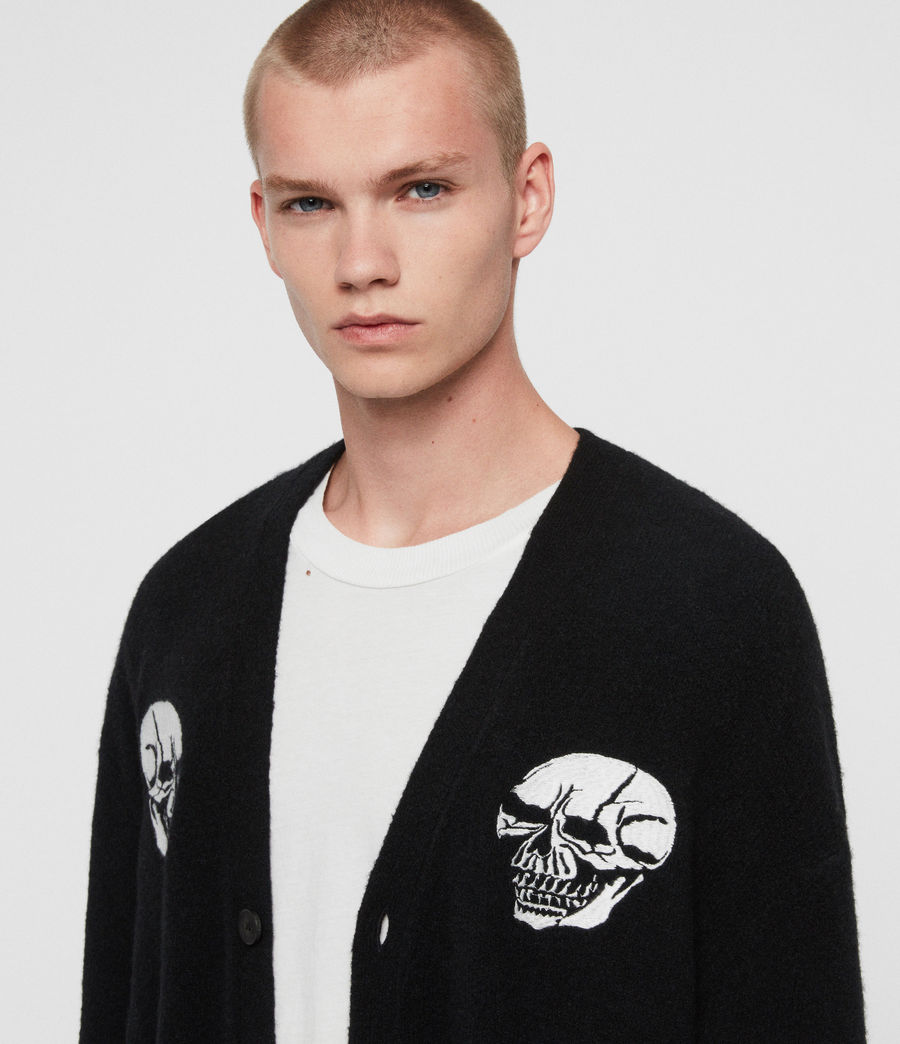 Men's Skullz Cardigan (black) - Image 2