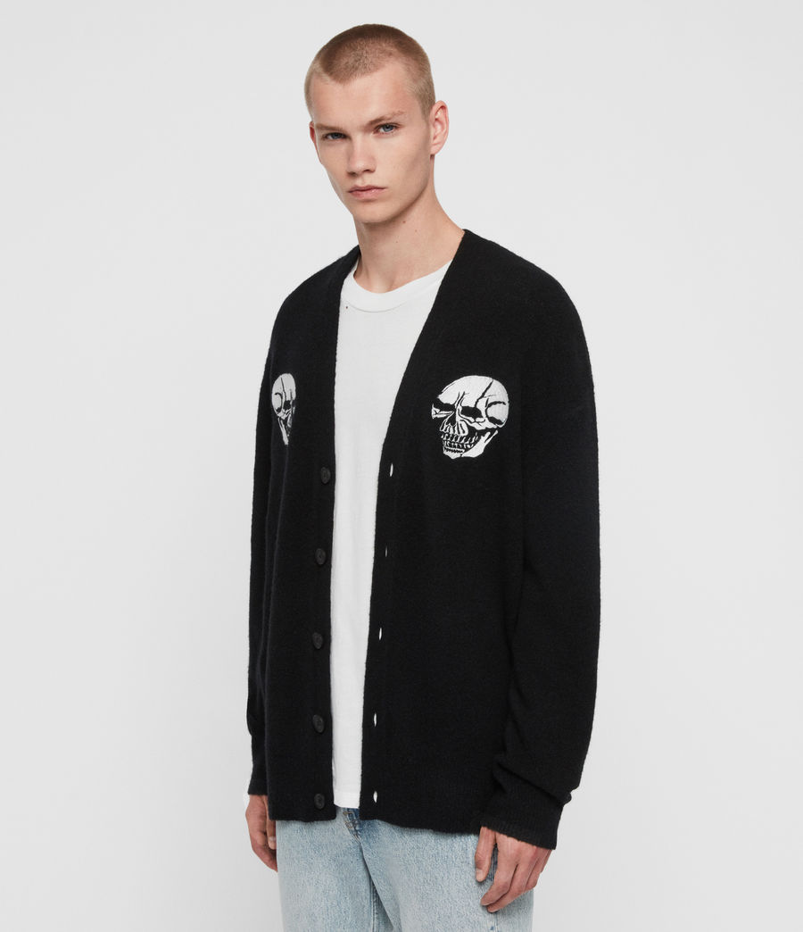 Men's Skullz Cardigan (black) - Image 3