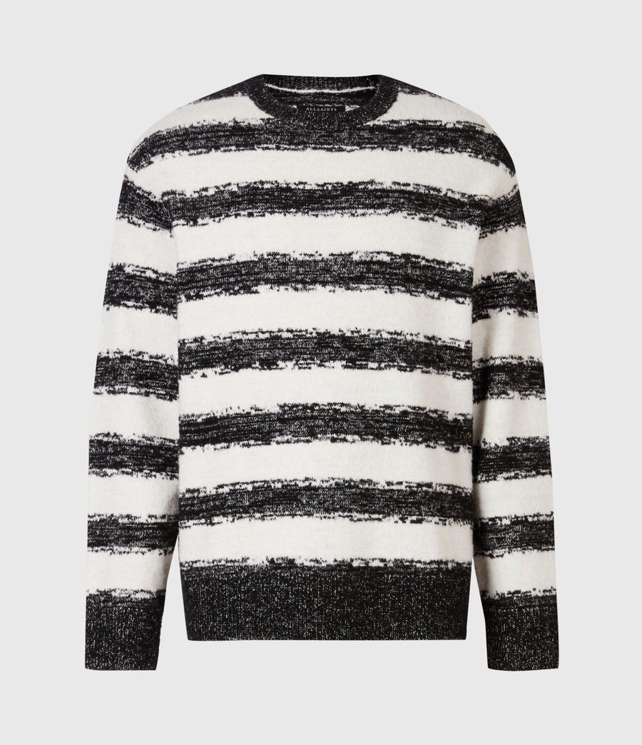 Men's Lexi Crew Jumper (black_ecru) - Image 2