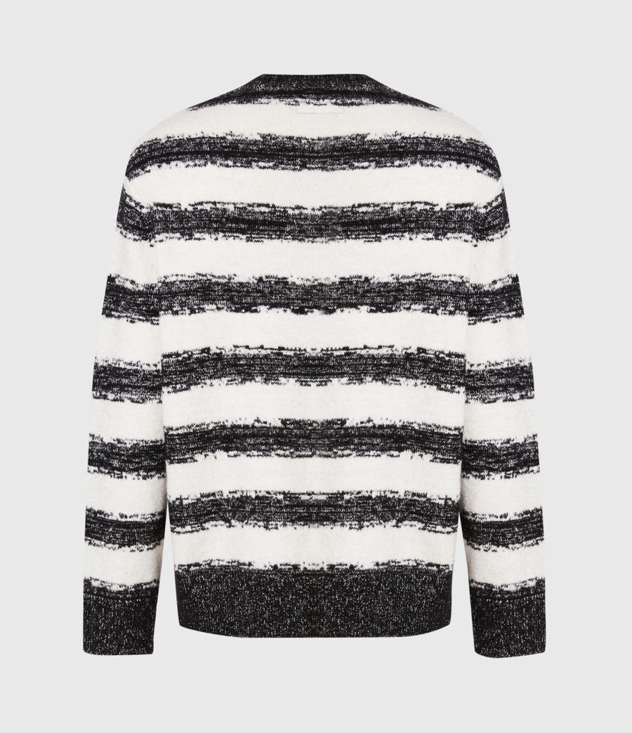 Men's Lexi Crew Jumper (black_ecru) - Image 5