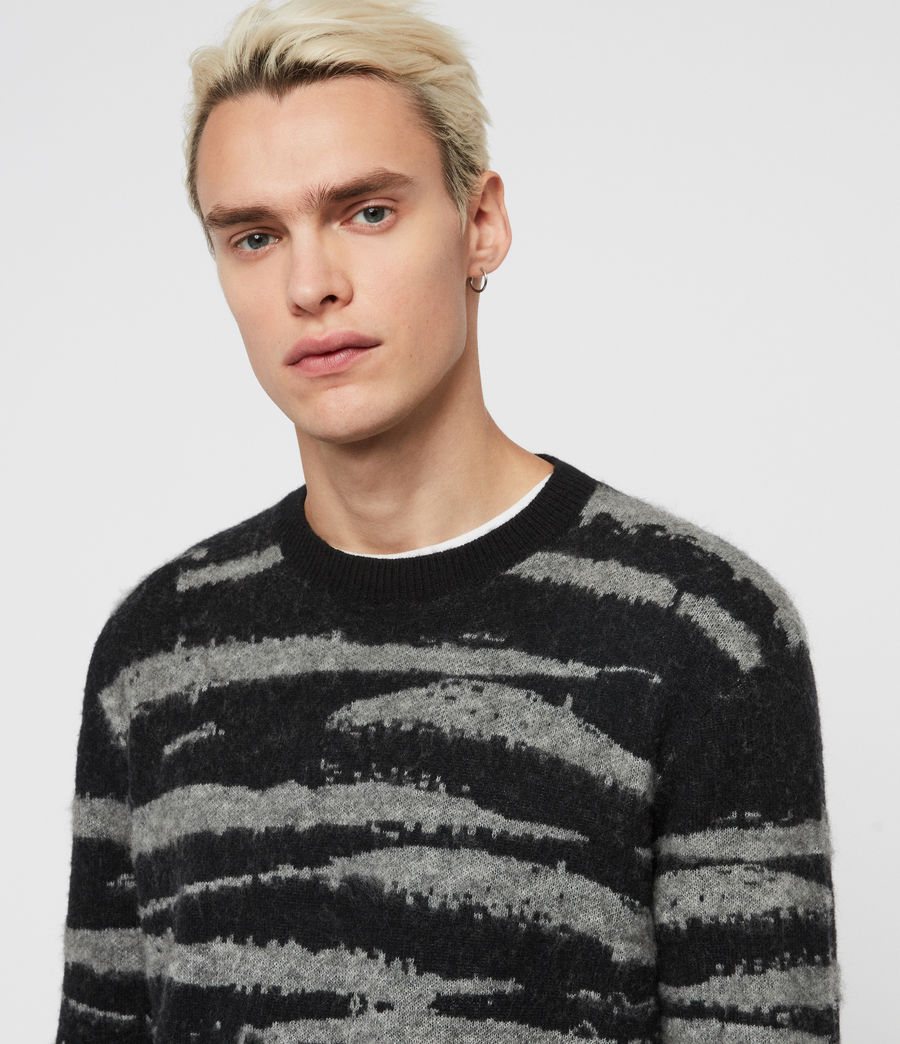 Mens Ture Crew Sweater (black_grey_marl) - Image 2