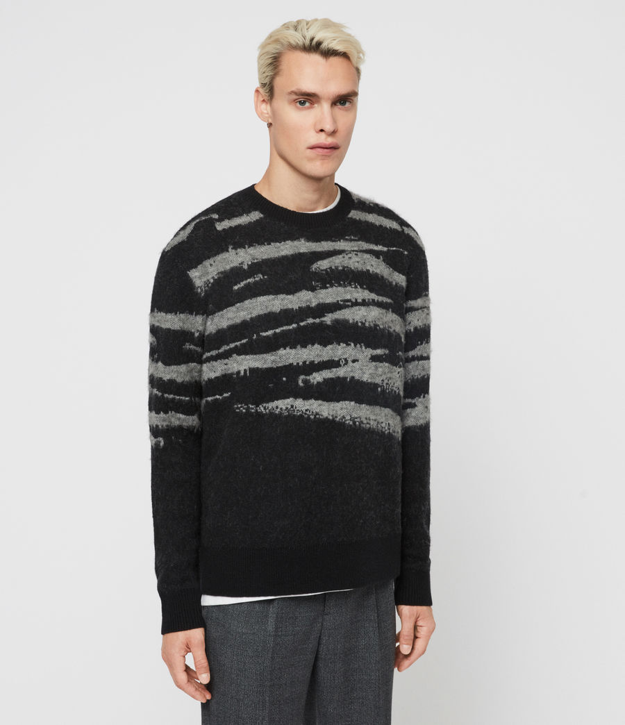 Mens Ture Crew Sweater (black_grey_marl) - Image 3