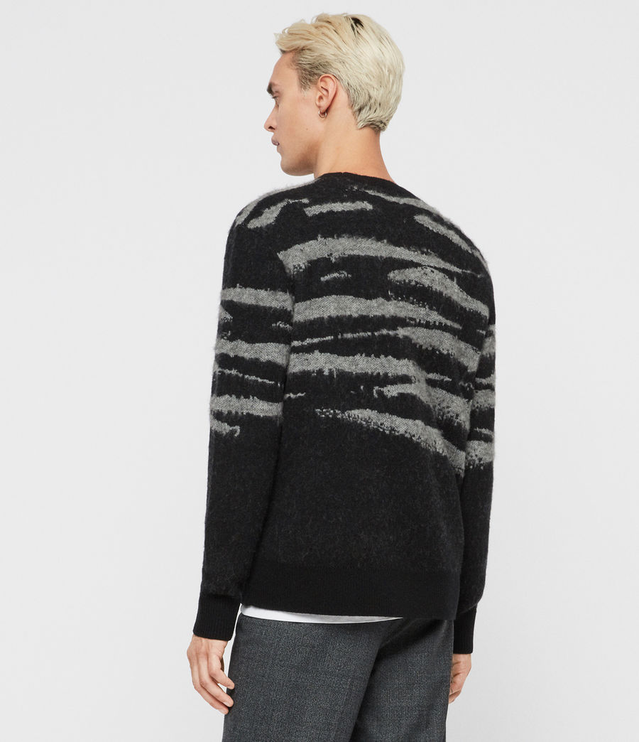 Men's Ture Crew Jumper (black_grey_marl) - Image 4