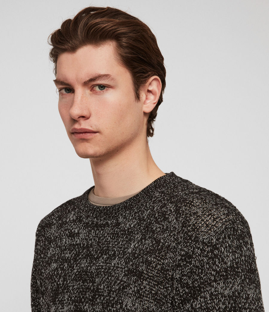 Men's Oskett Crew Jumper (black_mouline) - Image 3