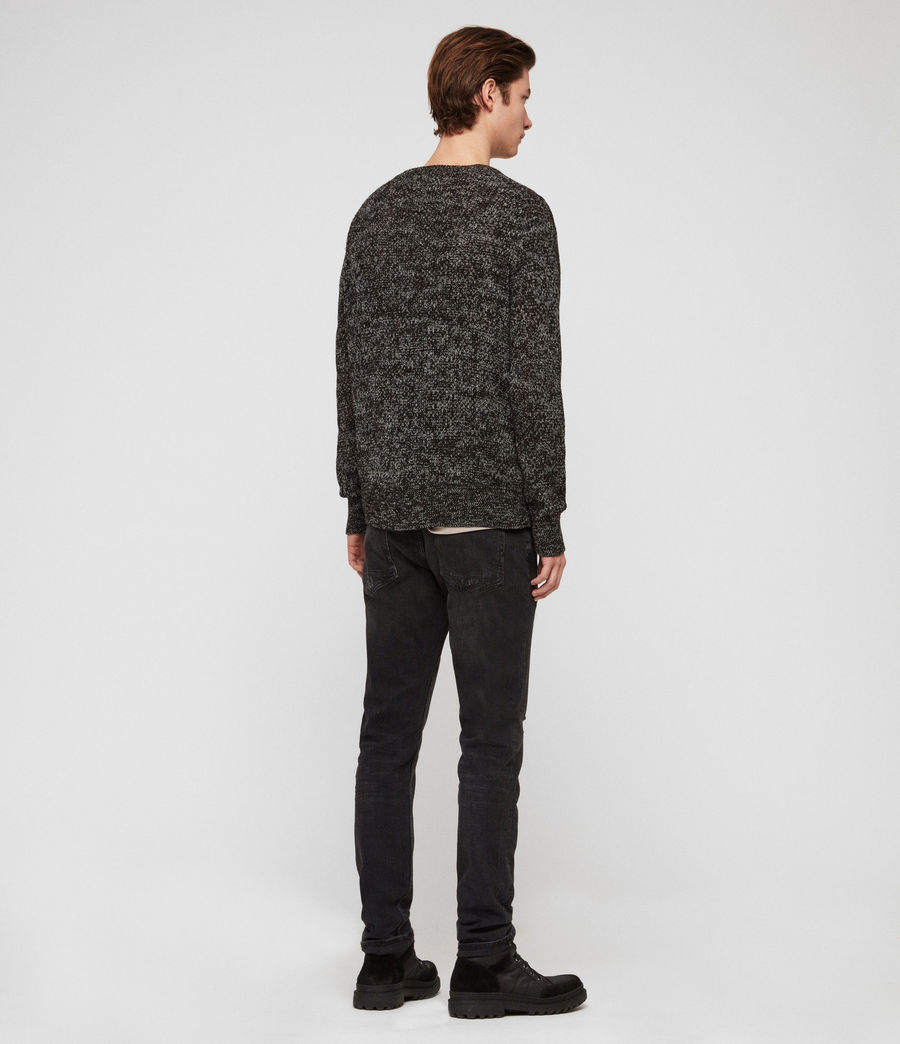 Men's Oskett Crew Jumper (black_mouline) - Image 5