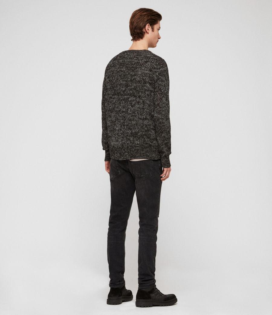 Herren Oskett Pullover (black_mouline) - Image 5